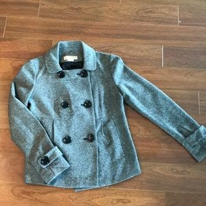 Michael Kors tweed wool pea coat